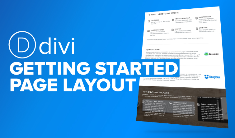 Divi Getting Started Page