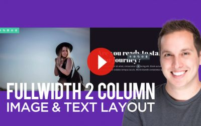 How to Create a Fullwidth 2 Column Image & Text Section in Divi