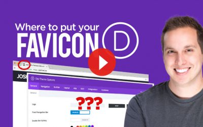 Where to put your Favicon in Divi
