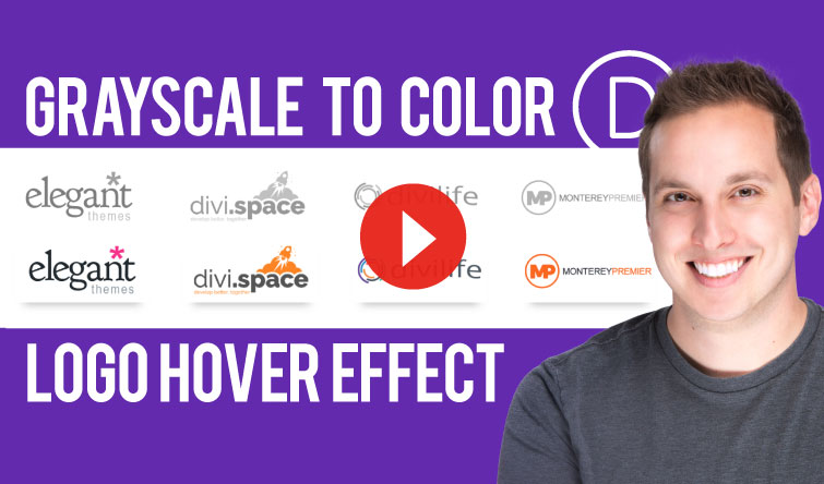How to Create a Grayscale to Color Logo Hover Effect in Divi