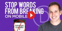 How To Stop Words from Breaking on Mobile in Divi