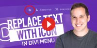How to Replace Text with an Icon in the Divi Menu