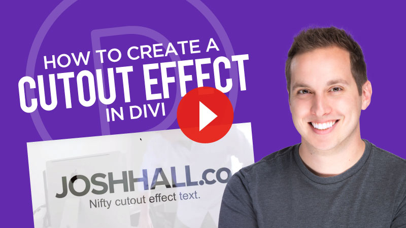 Creating a Logo/Text Cutout Effect in Divi