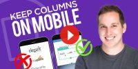 How to Keep Columns on Mobile in Divi