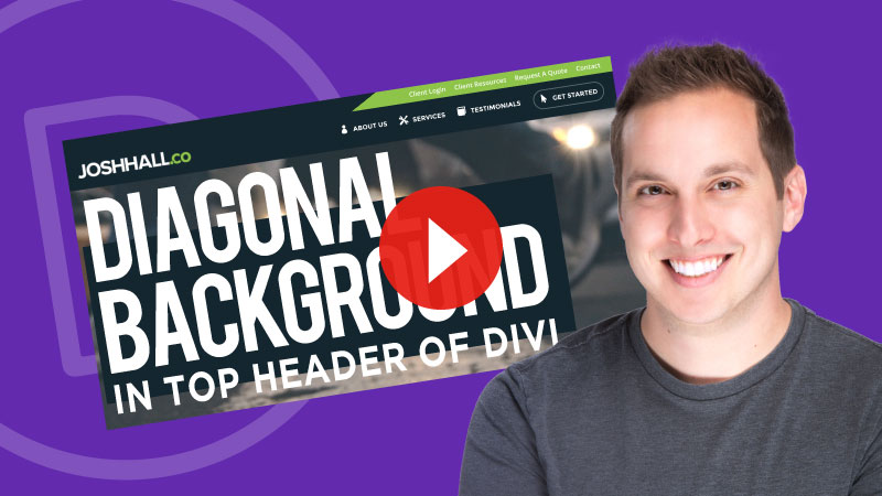 How to Create a Diagonal Shape Background in Top Header of Divi