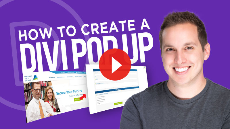 How to Create a Divi Popup using Divi Overlays