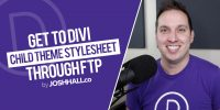 How to Access your Divi Child Theme Stylesheet through FTP