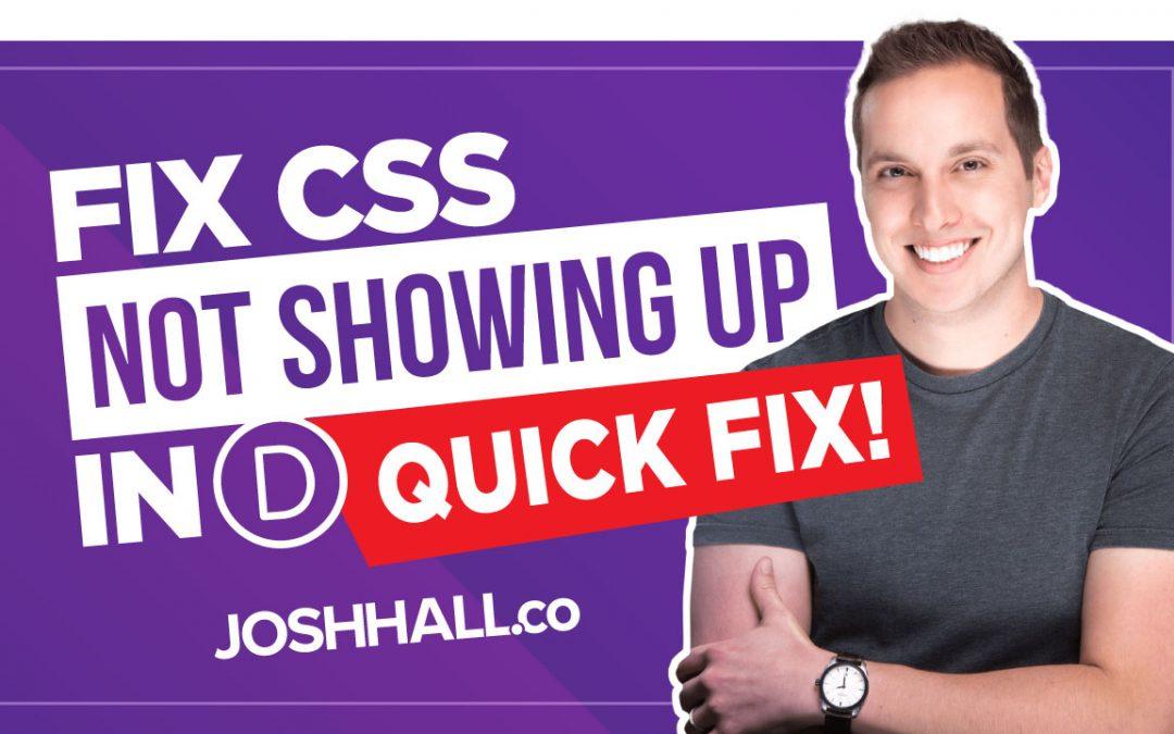 Divi Custom CSS Not Working (Quick Fix!)